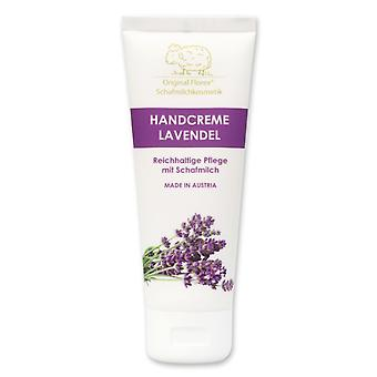 Florex Hand Cream Lavender - Rich intensive care with sheep's milk without palm oil 75 ml
