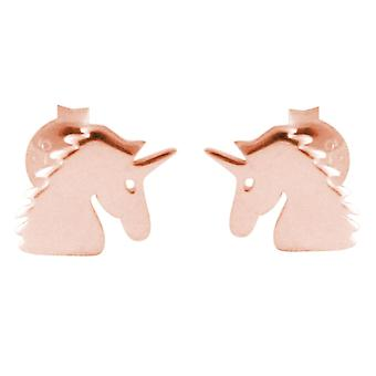 GEMSHINE stud earrings EINHORN 925 silver, gold plated or rose