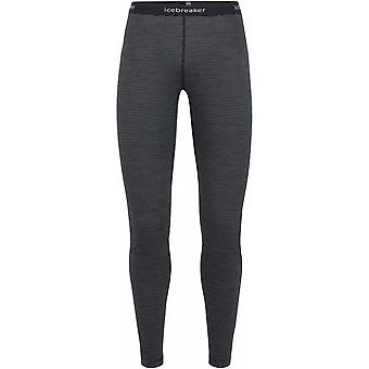 Icebreaker vrouwen Oasis legging Stripe - Black/Snow