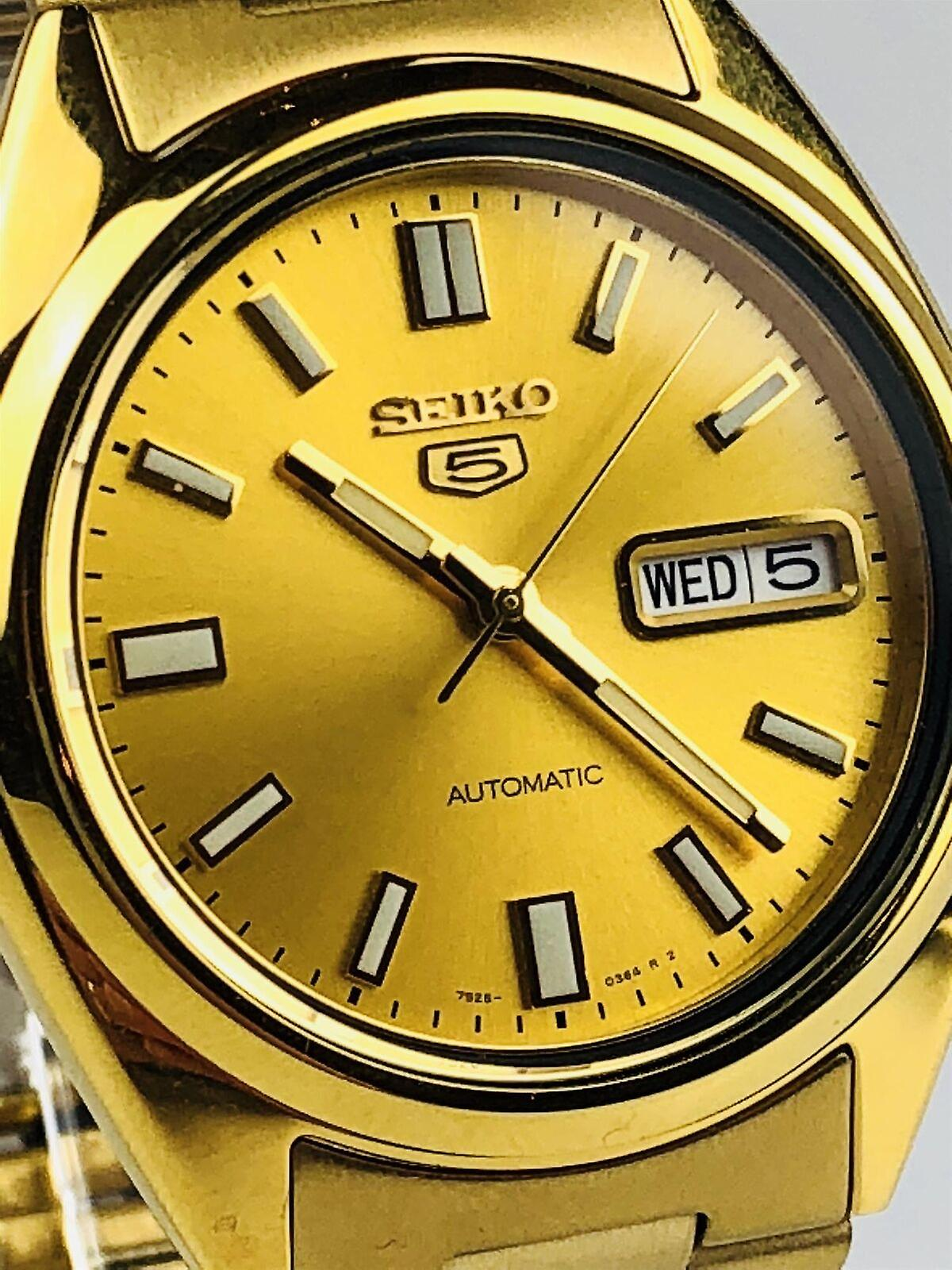 Seiko 5 Automatic Gold PVD Stainless Steel Men's Watch SNXS80K1 RRP £199