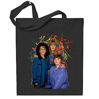 TV Times Birds Of A Feather Cast Paint Splatter Totebag