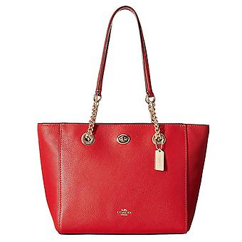 Coach women's shopping bag, red