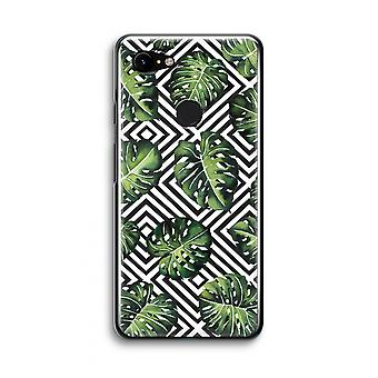 Google Pixel 3 Transparent Case (Soft) - Geometric jungle