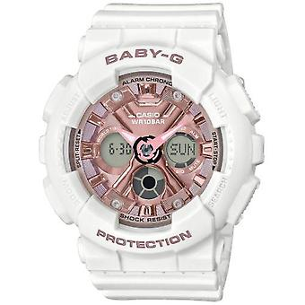 Casio BA-130-7A1ER Watch-BABY-G multifunktions strop R sine hvide bo tier R sinus