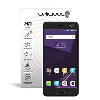 Celicious Vivid Invisible Glossy HD Screen Protector Film Compatible with ZTE Blade V8 [Pack of 2]