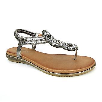 Lunar Silvia tå post pärla sandal