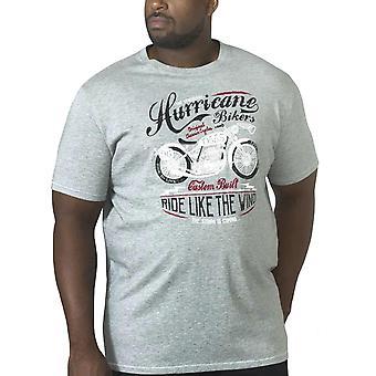 Duke D555 Mens Dayton Big Tall King Size Short Sleeve Crew Neck T-Shirt Top-Grey