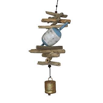 Holz 6 Fisch Float Cohasset Glocke