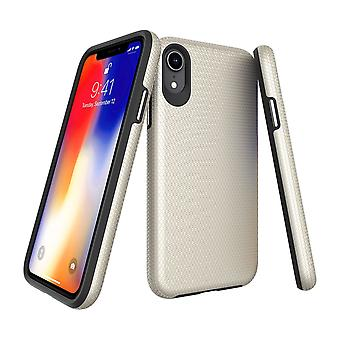 For iPhone XR Case, Armor Gold Shockproof Protective Durable Slim Phone Cover
