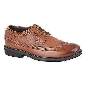 Roamers hombres completo ajuste 5 encaje de ojos Gibson zapatos de cuero