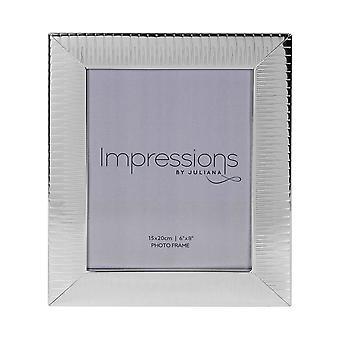 Widdop Bingham Silver Plated Ridge Design Frame 6 X 8