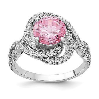 Cheryl M 925 Sterling Zilver Roze en Wit CZ Cubic Zirconia Gesimuleerde Diamond Ring Sieraden Geschenken voor vrouwen - Ring Size