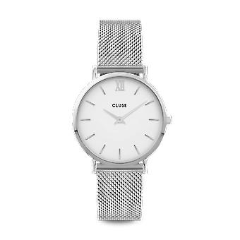 CLUSE Miniut Silver Stainless Steel White Dial Ladies Watch CW0101203002