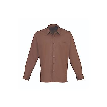 Premier long sleeve poplin shirt pr200 darker colours