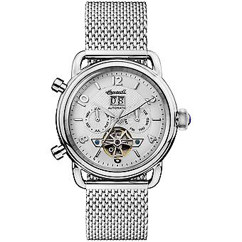 New England Automatic Analog Man Watch with Stainless Steel Bracelet I00904