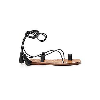 Etro 1369336610001 Women's Black Leather Sandals