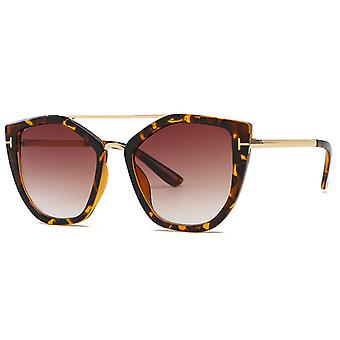 Gafas de sol Puente Doble UV400 Kourtney Leopard