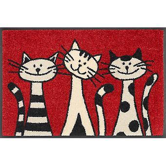 wash+dry doormat Three Cats 40 x 60 cm small doormat