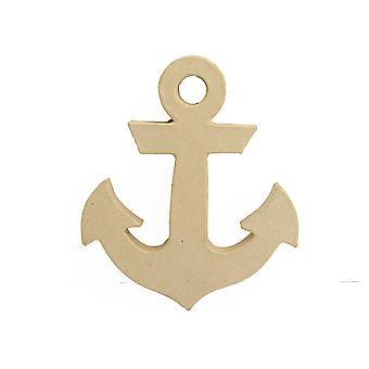 17.5cm Paper Mache Freestanding Anchor Shape to Decorate
