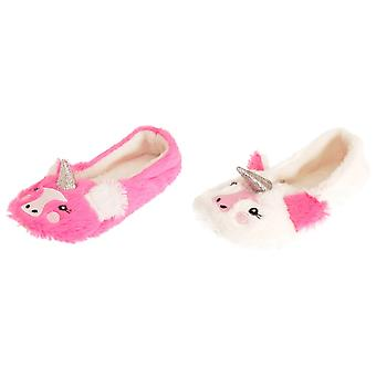 Forever Dreaming Womens/Ladies Faux Fur Unicorn Slippers