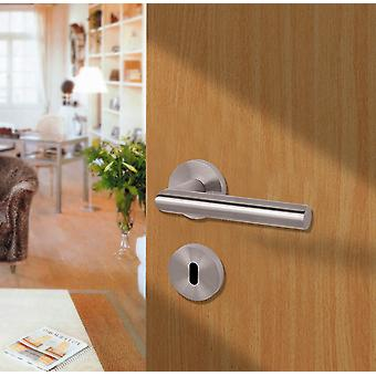 Stainless Steel Door Fitting - Handle With Round Rosette - Stylish And Classic Design