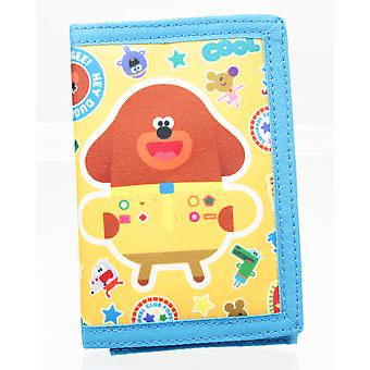 Hey Duggee Yellow Tri-Fold Childrens Wallet Hook & Loop