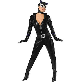 Womens Sexy Catwoman Fancy Dress Costume (Size 12-14)