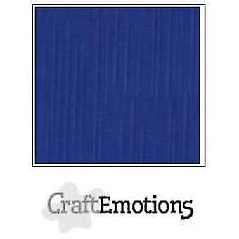 CraftEmotions papelão de linho 10 Sh azul 30,0x30,0cm / LC-46