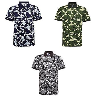 Asquith & Fox Mens Short Sleeve Camo drucken Polo-Shirt