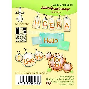LeCrea - Clear stamp Labels and more 55.4612