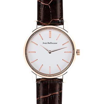 Jean Bellecour REDG1 Watch - Men's Round Cognac Watch