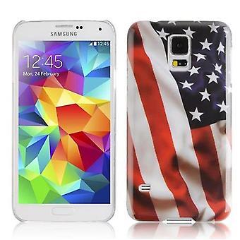 Cadorabo - Hard Cover for > Samsung Galaxy S5 / S5 NEO < - Case Cover Protective Case Bumper in Design: STARS AND STRIPES