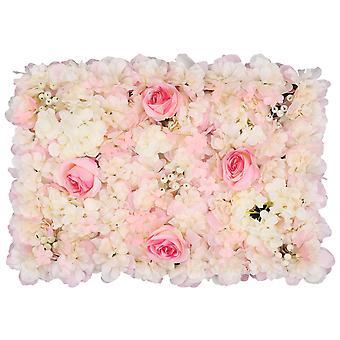 Parede de flor de Hortênsia Parede de flor falsificada artificial