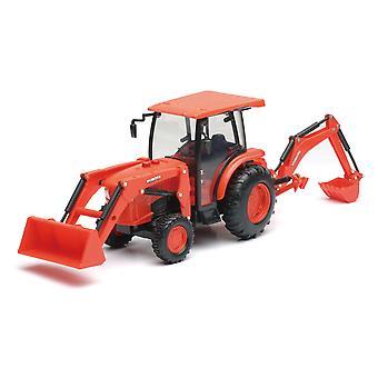 B/O 1:18 Kubota zemědělský traktor W/zavaděč a Backhoe (L & S)