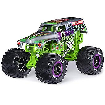 Monster Jam Oficial Grave Digger Toy Car 1:24 pm