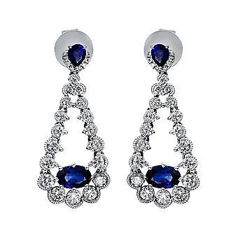 Boucles d'oreilles Diamond Gemstone - 750/- WG - 1,09 ct. - 1,33 ct. - 2H614W8-1