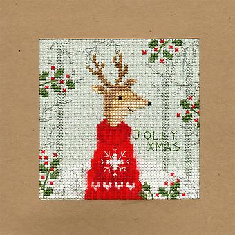 Bothy Threads Cross Stitch Card Kit - Xmas Herten