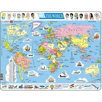 Larsen Jigsaw Puzzle - Political Map Of The World, 107 Piece