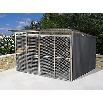Hundgård 3,22x2,75x1,86m ProShed®, Antracit