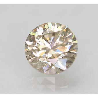 Cert 1.31 Carat TL Brown VS2 Round Brilliant Enhanced Natural Diamond 6.77mm