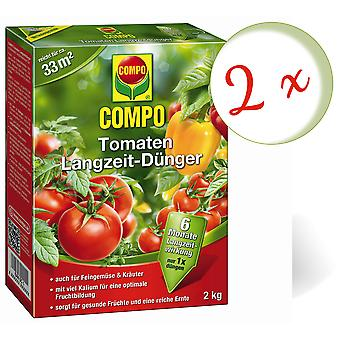 Sparset: 2 x COMPO tomatoes long-term fertilizer, 2 kg