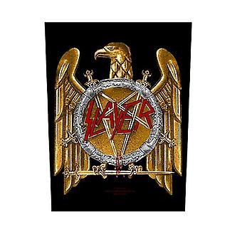 Slayer Back Patch Golden Eagle Band Logo new Official Black 36cm x 29cm
