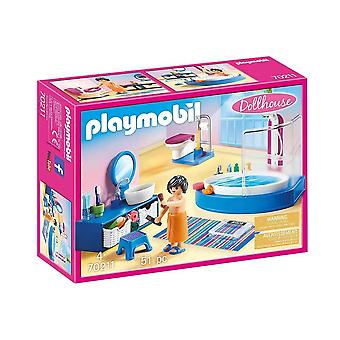 playmobil 70211 dollhouse bathroom with tub playset 51pcs for ages 4 and above