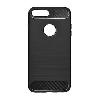 Shell per iPhone 8 Morbido Effetto Nero Carbon