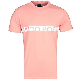 BOSS RN Slim Fit Sustainable Cotton Pastel Salmon Pink T-Shirt