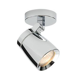 Knight Wall Light, chrom i szkło, 1 żarówka