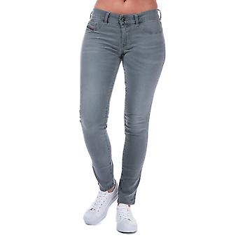 Women's Diesel Livier Skinny Jeans in Grey
