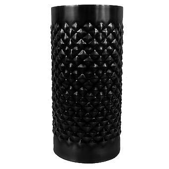 Diamond Metal Decorative Vase - Black 31 x 15cm