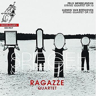 Ragazze Quartet - Spiegel: Mendelssohn: Quartet Op 13 / Beethoven: Quartet Op 132 [CD] USA import