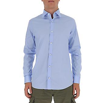 Z Zegna 805101zcsc2g Men's Light Blue Cotton Shirt